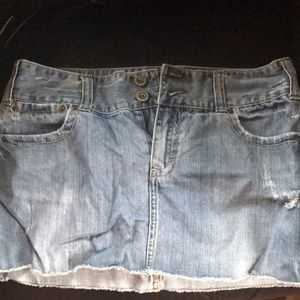 AE jean mini skirt